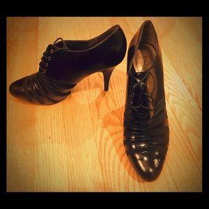 Victor Alfaro Black Patent Ankle Booties Size 9